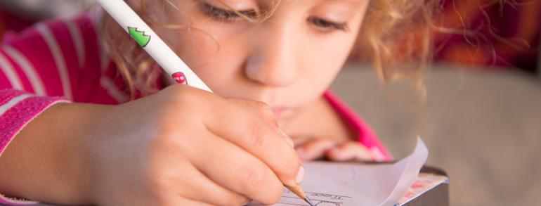 girl-doing homework